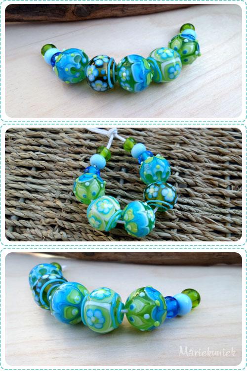 Kralen Blauw groen