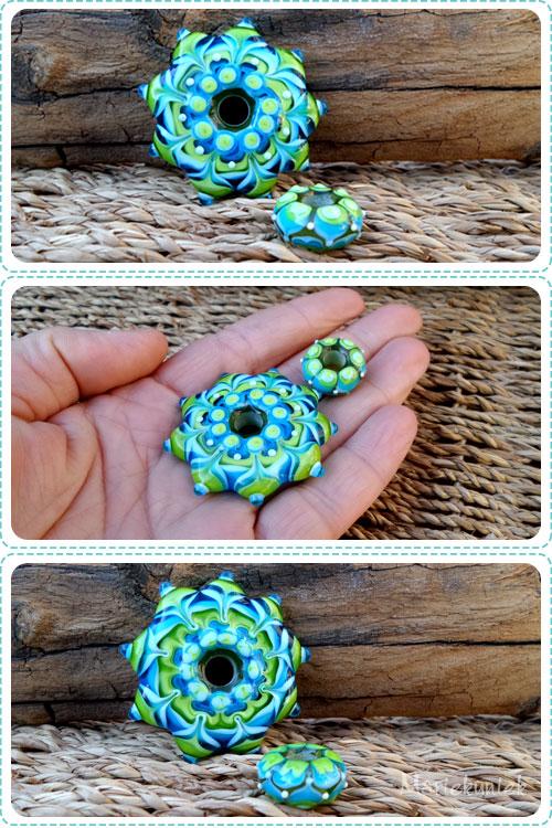 Mandalakraal blauw groen